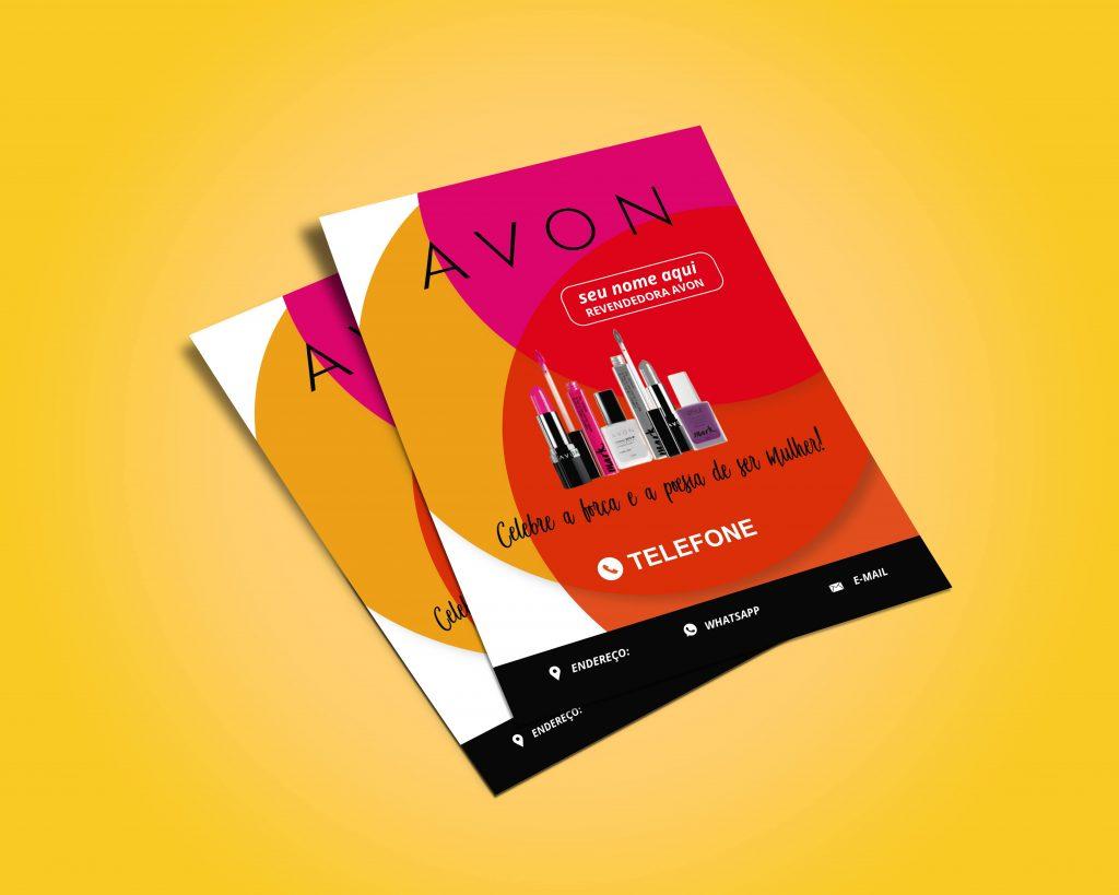 Panfleto Avon - MODELO 1